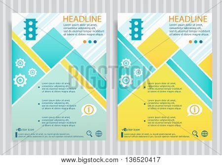Stoplight Icon  On Vector Brochure Flyer Design Layout Template