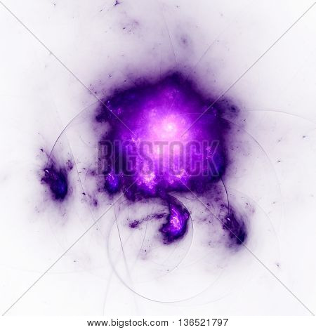 Cluster of galaxies. Starry Nebula. 3D illustration. Sacred geometry. Mysterious psychedelic relaxation pattern. Fractal abstract texture. Digital artwork graphic design astrology alchemy magic.