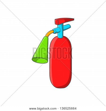 Fire extinguisher icon in cartoon style isolated on white background. Equipment fire symbol