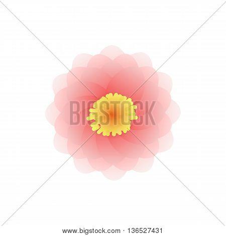 Mandala icon in cartoon style isolated on white background. Ornament symbol