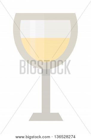 Red wine in a glass isolated on white background and glass of wine vector drink. Glass of red wine and glass of wine alcohol beverage celebration grape merlot. Gourmet restaurant party alcohol liquor.