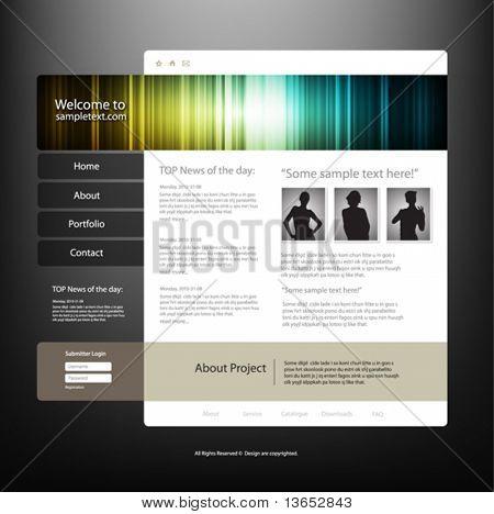 Website design template, vector.