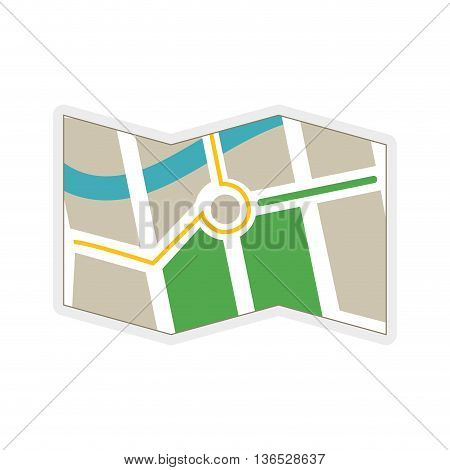 Navigation instrument concept represented by map icon. isolated and flat illustration