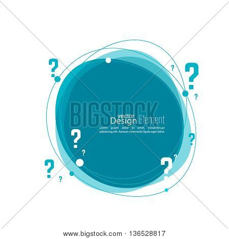 Question mark icon. Help symbol. FAQ sign on background. vector. Banner roundish form