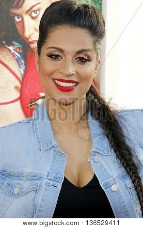 Lilly Singh at the Los Angeles premiere of 'Mike And Dave Need Wedding Dates' held at the ArcLight Cinemas in Hollywood, USA on June 29, 2016.
