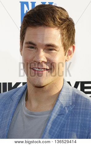 Adam DeVine at the Los Angeles premiere of 'Mike And Dave Need Wedding Dates' held at the ArcLight Cinemas in Hollywood, USA on June 29, 2016.