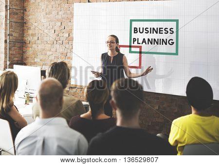 Business Plan Planning Goals Ideas Process Concept