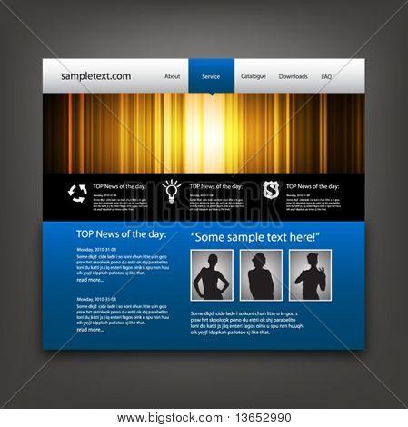 Website design template. Vector.