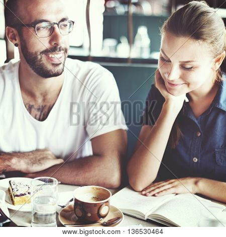 Coffee Shop Cafe Restaurant  Friendship Togetherness Concept