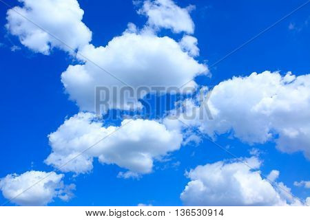 Clouds in summer sky close-up