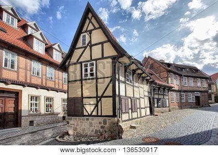 Old timber framing houses in Quedlinburg, Germany