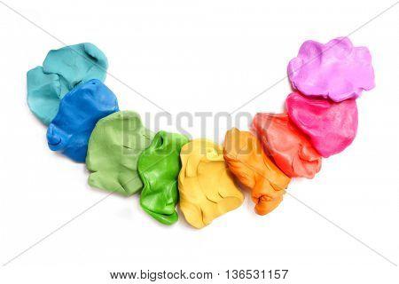 Colorful plasticine. Rainbow