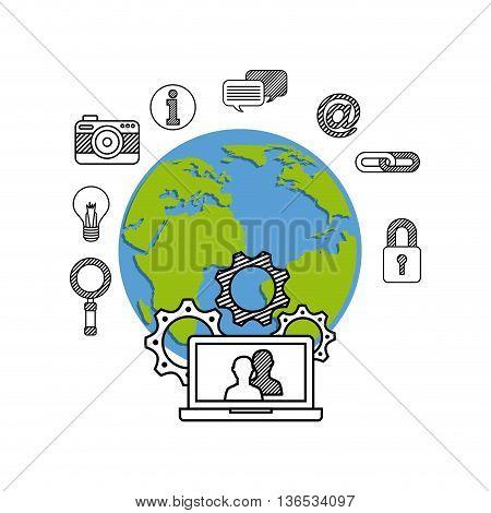Technology icon design, Vector illustration eps 10