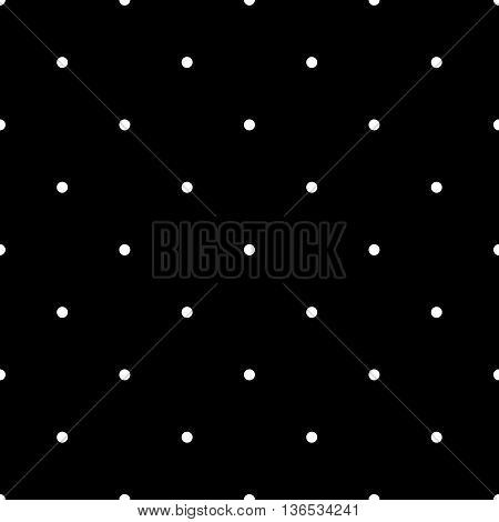 Polka dot geometric seamless pattern. Fashion graphic background design. Modern stylish abstract monochrome texture. Template for prints textiles wrapping wallpaper website etc VECTOR illustration