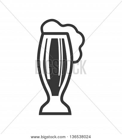 Beer concept represented by glass icon. isolated and flat illustration