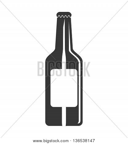 Beer concept represented by bottle  icon. isolated and flat illustration