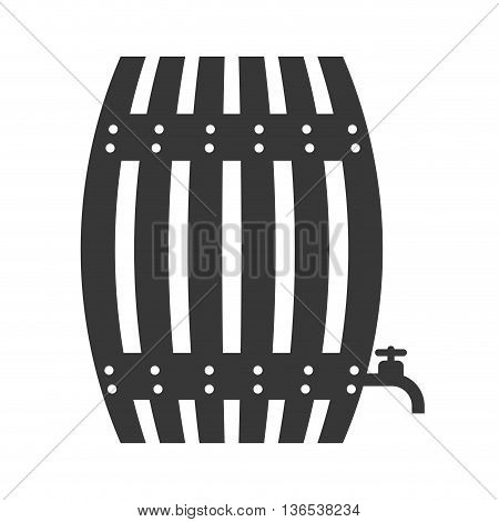 Beer concept represented by barrel icon. isolated and flat illustration
