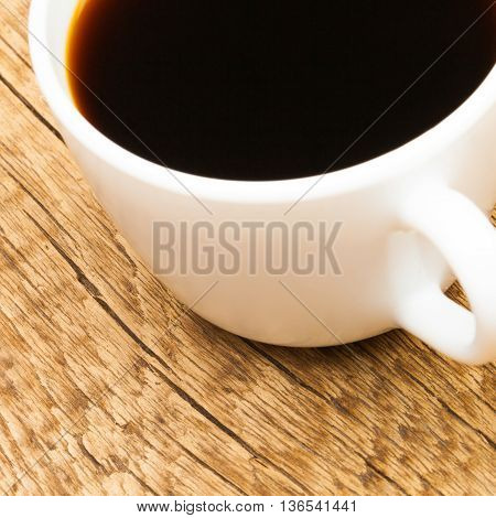Cup Of Strong Black Coffee - Studio Shot