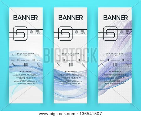 Classic Corporate Identity Flyer Template. Business Documentation. Background for Banners. Vector illustration