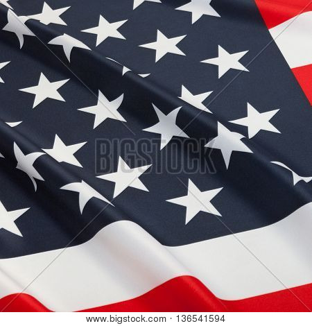 Series Of Ruffled Flags - United States Of America