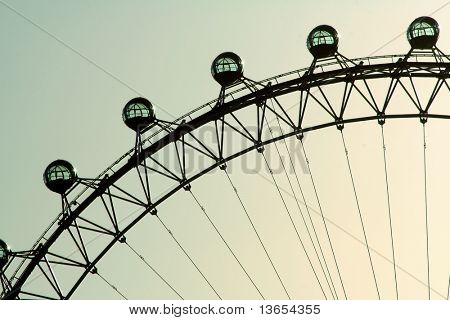 The London Eye, or the Eye of the Millennium, of British Airways in London on Thames