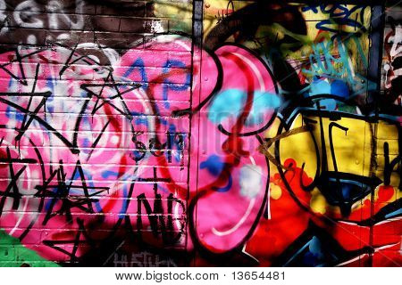 graffiti and shadows