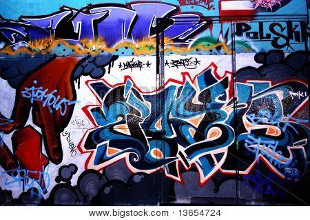 some crazy graffiti