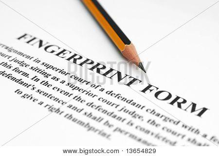 Fingerprint form