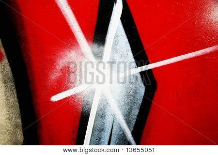 Abstract graffiti star burst