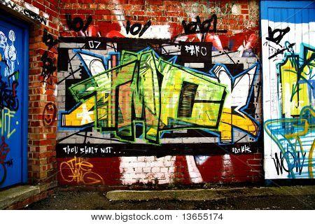 Brick graffiti very grunge