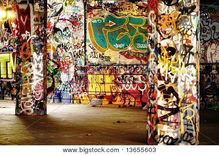 Amazing Urban location filled with graffiti
