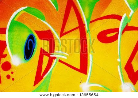 ABSTRACT ARTISTIC GRAFFITI