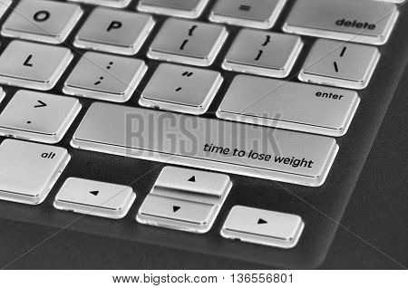 The Computer Keyboard Button Written Word Time To Lose Weight