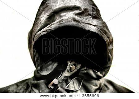 Halloween scary ghost coat concept or Saint nicks or dark angel