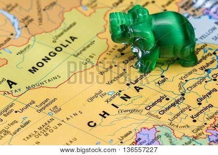 Asia And Elefants Concept