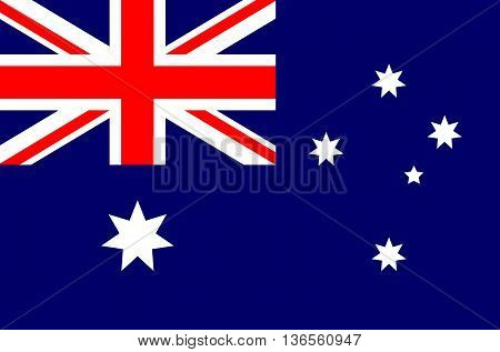 Australia flag vector illustration national flag isolated