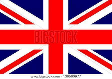 England UK British flag vector illustration national flag