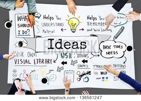 Ideas Design Mission Plan Proposal Strategy Vision Concept