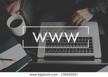 WWW Web Website Internet Media Connection Concept