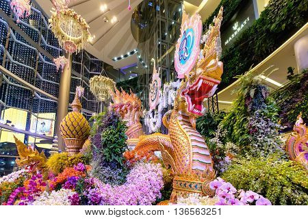 Bangkok Thailand - June 9 2016: Orchid Paradise Festival at Siam Paragon The shopping mall Bangkok Thailand.
