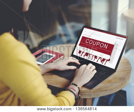 Coupon Discount Card Promotion Gift Voucher Concept