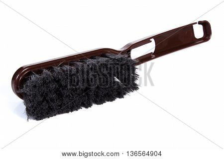 New Brown Broom For Cleaning On White Background