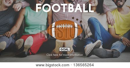 American Football Ball Rugby Game Concept