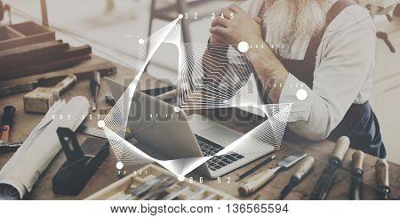 Statistics Diagram Histogram Information Data Concept