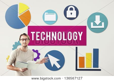 Business Technology Advanced Graphics Concept