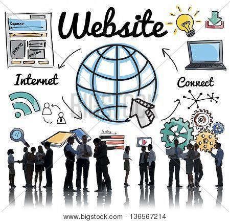 Website WWW Online Technology Global Concept