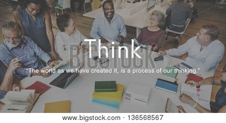 Think Ideas Creativity Strategy Visionary Planning Concept
