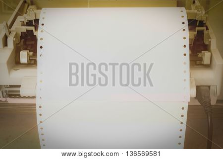 paper in printer for background vintage style