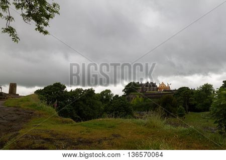 Stirling Castle Viewed From Surrounding Cliffs