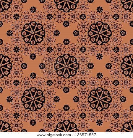 Seamless pattern graphic ornament. Floral stylish background. Repeating texture with stylized elements